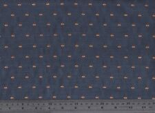 Dark Blue Patterned Upholstery / Furnishing Fabric 140cm wide (per metre)