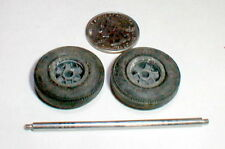 Vintage Ford GT 40 Slot Car Extra Narrow Front Wheels 1 Pair COX 9813 Used