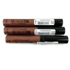 Maybelline Metallic Foil Liquid Lipstick Lot Of 3 In 110 Calypso Matte Finish
