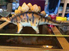 """Stegosaurus gigantescos 50CM 20"""" largo Dinosaurio Dino De Goma Juguete Grande Salvaje"""