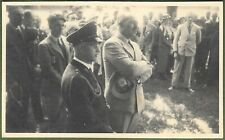 German WW2 Officers at Meeting. (Himmler Likeness), Two Excellent Real Photos.