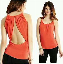 NWT GUESS BY MARCIANO ORANGE Anya Chain Tank SIZE S