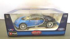 1/18 BUGATTI CHIRON Blue/Black BBURAGO NEW