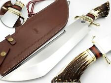 DRAGON WARRIOR CUSTOM & HAND MADE STEEL BLADE HUNTING KNIFE & BOWIE STAG/ANTLER