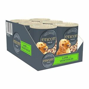 Encore Natural Wet Dog Food, Lamb with Vegetables Pate Tin 400g (Pack of 6)