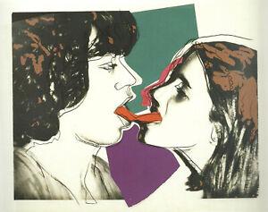 New Andy Warhol Mick & jade Jagger Rolling Stones Pop Art Print Poster Canvas