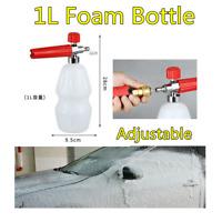 "1L 1/4"" Car Pressure Washer Snow Foam Bottle Adjustable Soap Spray Lance Cannon"