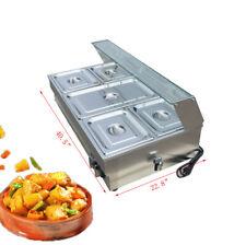 Us Sale Electrics 5 Pot Commercial Bain Marie Buffet Food Warmer 110v 1500w New