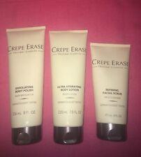 CREPE ERASE Ultra Body Lotion ~ Exfoliating Body Polish ~Refining Facial Scrub