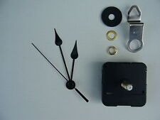 CLOCK MECHANISM QUARTZ EXTRA LONG SWEEP SPINDLE 80mm FRENCH SPADE HANDS