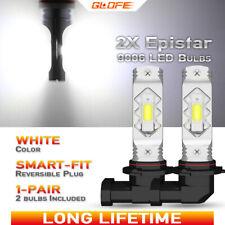 GLOFE 9006 HB4 Epistar LED Fog Light Bulbs For Dodge Ram 1500 2500 03-2008 White