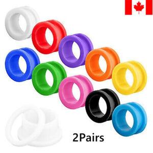 2pairs/set acrylic ear plug gauge flesh tunnel expander body jewelry punk gift