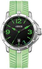 Venus Chroma Mens Size Green Rubber Strap VE-1312A1-22G-R10