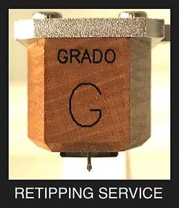 Grado Reference Statement Master Sonata Platinum  Bonded Line Contact Retipping