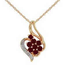 Ruby Rose Gold Diamond Fine Necklaces & Pendants