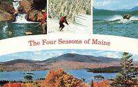 Postcard Four Seasons of Maine