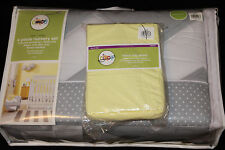 Circo Zigs & Zags 5 Pc Nursery Crib Bedding Set gray yellow safari chevron #163