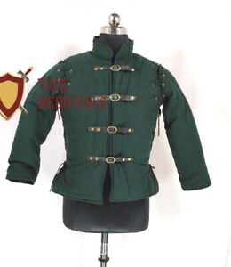 Medieval FEMALE Gambeson Thick Padded Costume Dress Coat Aketon Jacket Armor