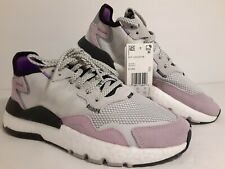 Adidas NITE Jogger Women's Running shoes grey purple black EE5906 Size 8