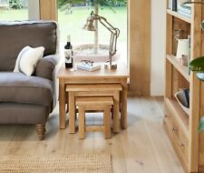 Baumhaus MOBEL OAK Nest of Three Tables / Nested Tables (COR08A) SRP £329
