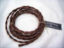 Dark Brown Twisted Wire Lamp Cord Pendant Light-Steampunk Lamp Retro Cord
