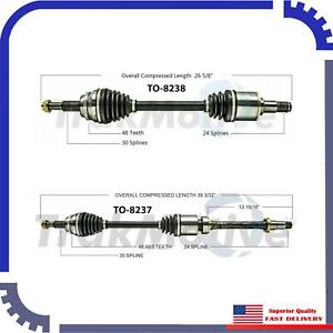 2 Front CV AXLE SHAFTS For 08-13 Highlander 3.5 Gas Engine Only All Wheel Drive