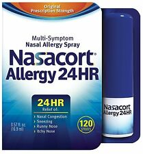 Nasacort Allergy 24 Hour 120 Sprays, 0.57 Fluid Ounce -FREE WORLDWIDE SHIPPING-