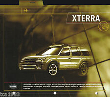 2000 Nissan XTERRA Press Kit info for ? Brochure: X-TERRA, XE, SE, '00