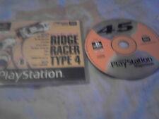 PS1 GAME PLAYSTATION MAGAZINE PLAYABLE DEMO 45 RIDGE RACER TYPE 4.