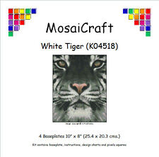MosaiCraft Pixel Craft Mosaic Art Kit 'White Tiger' Pixelhobby