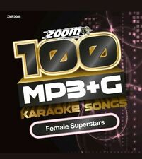 Zoom Karaoke 100 MP3+G Female Superstars - DVD-ROM - needs Computer/MP3+G player
