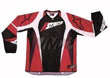 Maglia Rossa Red Motocross Mx Jersey Alpinestars Taglia Xl