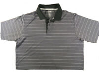 Adidas Golf Polo Shirt Mens Size XL Black Gray Climacool Short Sleeve Collared