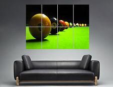 Sport Billard Pool Table Mural  Wall Art Poster Grand format A0 Large Print