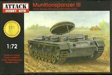 Attack 1/72 Munitionspanzer III with 8.8cm Ammunition Set