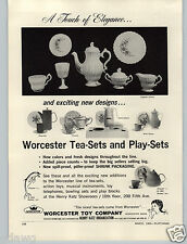 1965 PAPER AD Worcester Toy Play Tea Sets Skipper Doll Milk Glass Flipper Patio