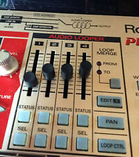 Roland MC-09 Alternative Slider Caps Set - Audio Looper Section - BLACK Set of 4