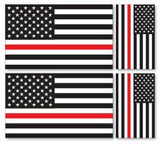 4 X US sottile linea rossa-Vigili del fuoco americani vinile Car iPad Laptop Adesivo