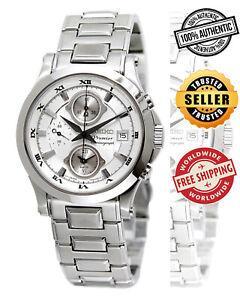 SEIKO Premier Alarm Chronograph SNA583 SNA583P1 Men Roman 100m Quartz Watch