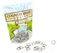 Country Brook Design® 100 - 1/2 Inch Die Cast Square Bottom D-Rings