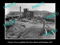 OLD 8x6 HISTORIC PHOTO OF CHARTERS TOWERS QLD THE DAY DAWN LACK MINE 1897