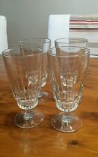 Luminarc Victoria France half pint Water Lager Crystal Glasses  x4