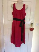 Marks And Spencer Maternity Dress Pinky Red Size 18 BNWT PRETTY