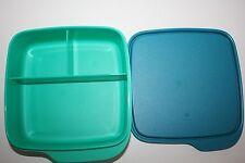 TUPPERWARE To Go Lunchbox 550 ml Trennwand Clevere Pause Schule BOX blau grün