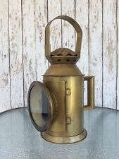 Iron Railway Train Lantern ~ Antique Finish ~ Locomotive Engine Oil Lamp