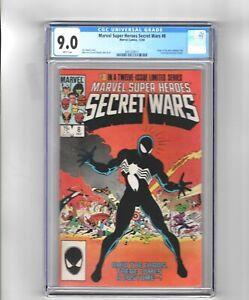 Secret Wars # 8 CGC 9.0 1st black costume eventually Venom