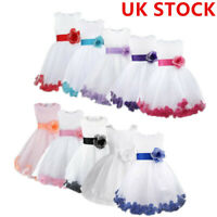 UK_Wedding Pageant Petals Flower Girl Dress Bridesmaid Formal Party Prom Gown