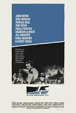 IN HARMS WAY Movie POSTER 27x40 B John Wayne Kirk Douglas Tom Tryon Patricia