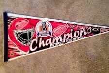 97/98 DETROIT RED WINGS  Stanley Cup Champions Pennant