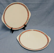 "2 VILLEROY & BOCH RIALTO 12"" ROUND HANDLED SERVING PLATES MINT WHITE SOUTHWEST"